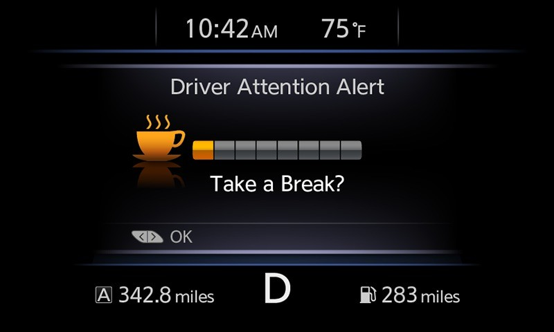 Nissan Drowsy Alert Feature