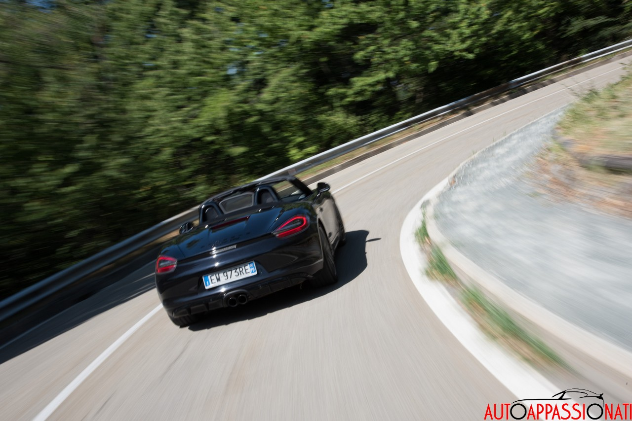 Porsche Boxster GTS in action