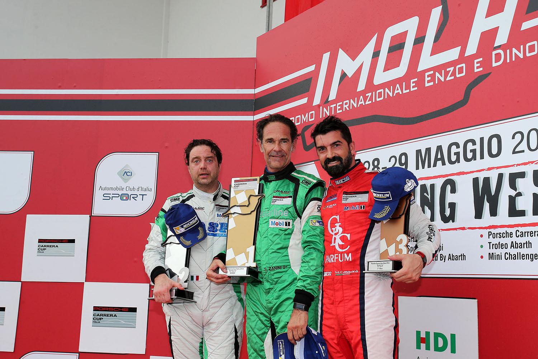 2016 CCI 02 Imola Podio Michelin Gara2 da sin DE GIACOMI ZANINI CASSARA