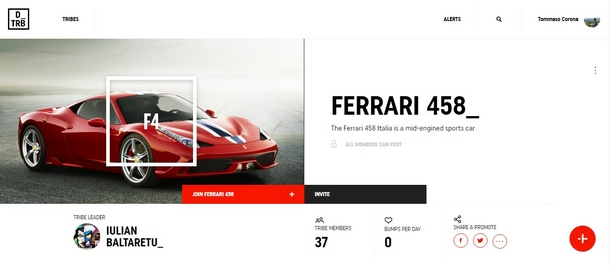 DriveTribe Ferrari458