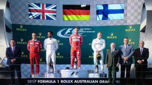 Podio GP d'Australia 2017