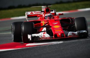 La Ferrari SF70H di Kimi Raikkonen