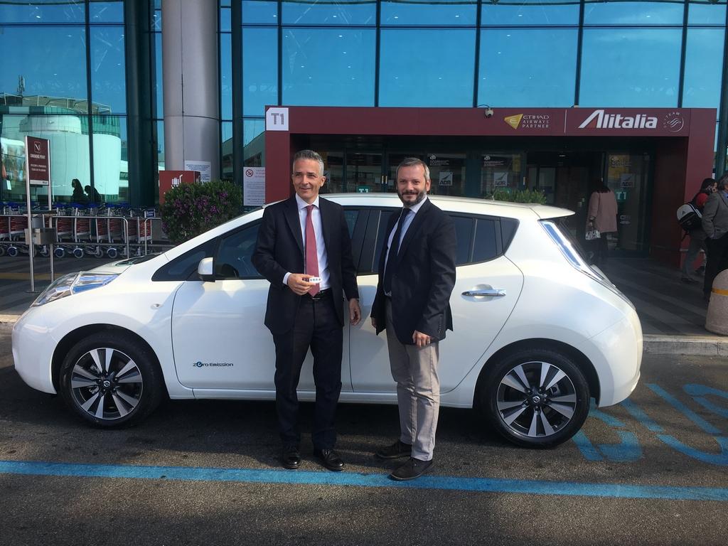 La Nissan Leaf a Fiumicino