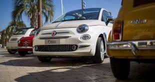 Le Fiat 500 sul lungomare di Cannes