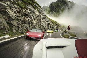 Lamborghini Huracan sulla Transfagarasan