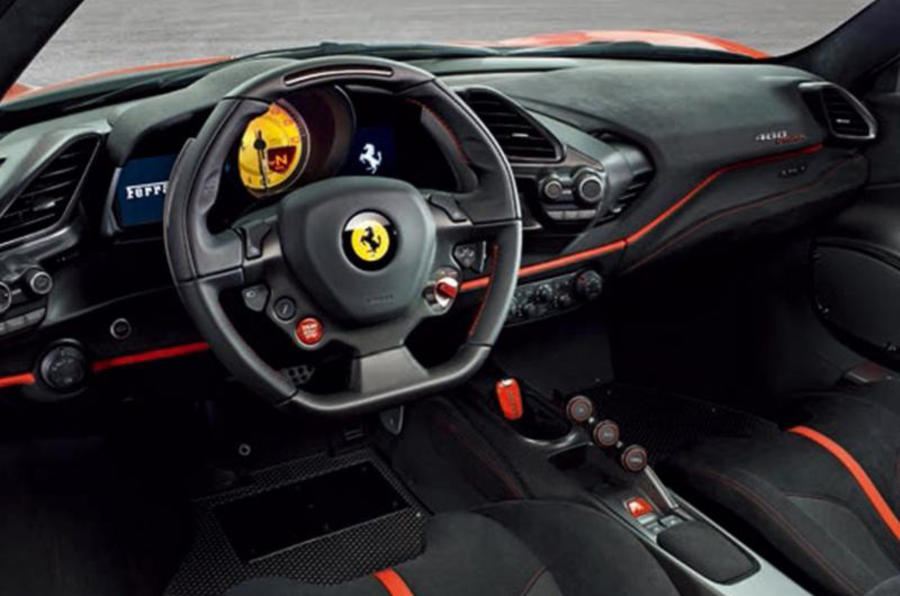 Ferrari 488 Pista interni