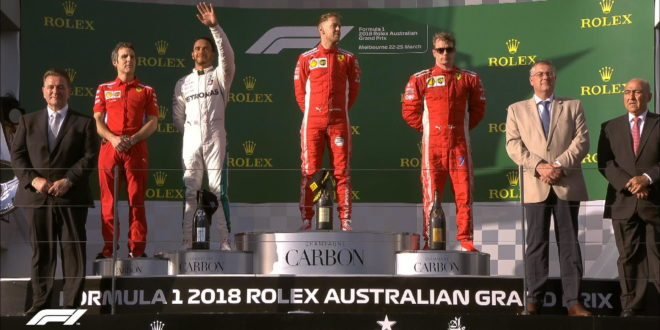 GP Australia 2018 Podio