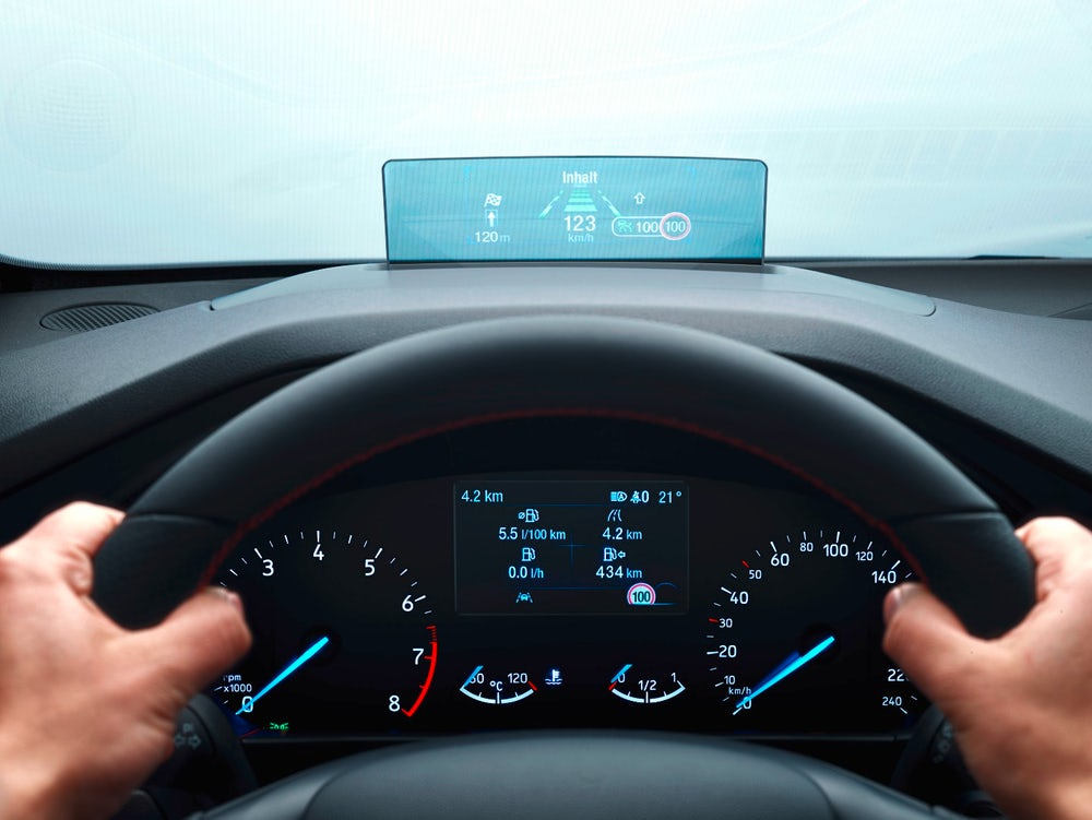 Ford ADAS co-pilot360 HUD