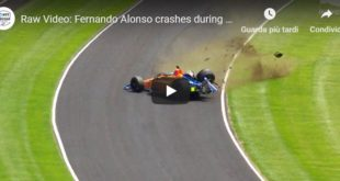 Incidente Alonso 500 Miglia di Indianapolis
