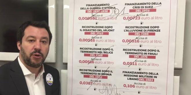 Salvini Accise benzina
