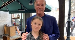 Greta Thunberg e Arnold Schwarzenegger