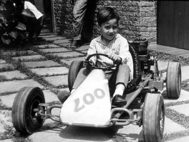 Ayrton Senna bambino kart
